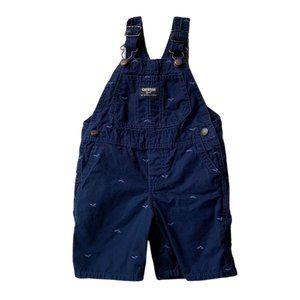 Boy Blue Whale Shortalls overalls Shorts 24 M 2T